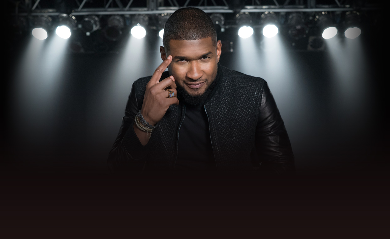 Usher demonstrates how to command the stage during his performance MasterClass
