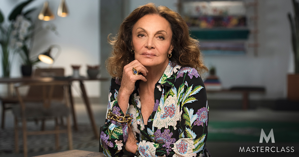 diane von furstenberg teaches building a fashion brand. Black Bedroom Furniture Sets. Home Design Ideas